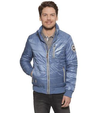 Polstrovaná modrá bunda