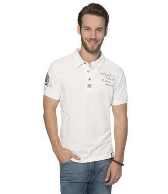 bílé polo tričko s krátkým rukávem