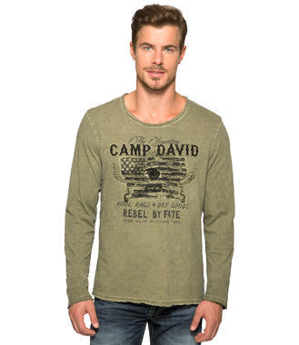 Tmavě zelené tričko s americkou vlajkou