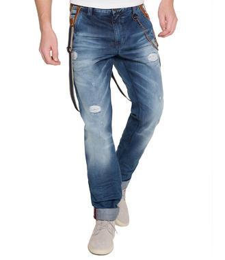 Džínové kalhoty s kšandami