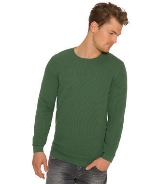 Tmavě zelený pletený svetr