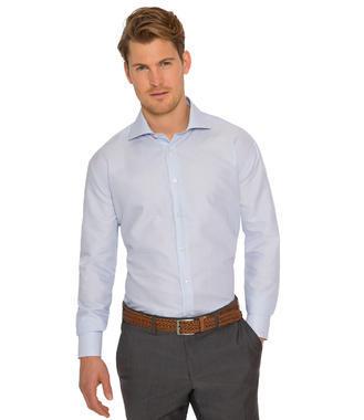 Světle modrá košile s bílým vzorem