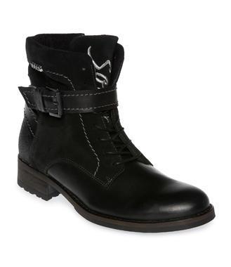 Kožené boty SCU-1755-8945 black