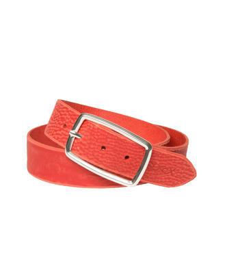 Pásek kožený SOCCX SCU-9999-8117 red