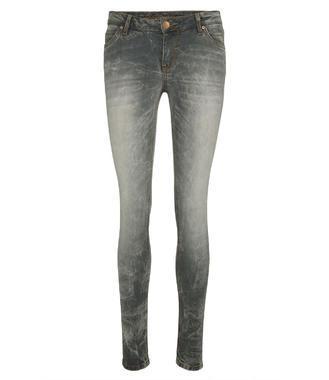 Světle šedé džínové kalhoty se sepraným efektem