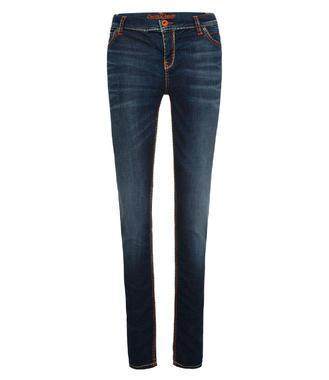 tmavě modré strečové džíny
