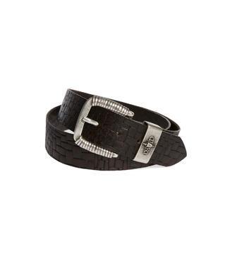 Kožený pásek CCU-9999-8424 black-brown